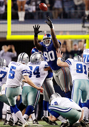 Jason Pierre-Paul's block preserved a 37-34 Giants win.